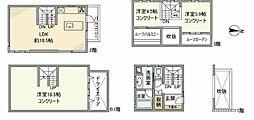 東京メトロ東西線 神楽坂駅 徒歩5分の賃貸マンション 3階3LDKの間取り