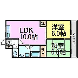 アーチ神崎[1階]の間取り