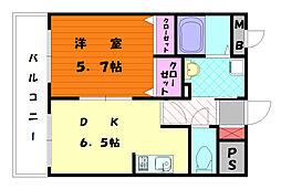 ワイズマンション[1階]の間取り