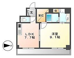 Casoneasso(カゾーネアッソ)[3階]の間取り
