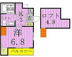Camel西新井[103号室]の間取り