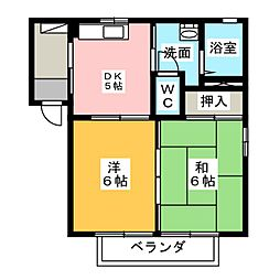 パムメゾン[2階]の間取り