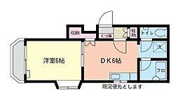 グレイスマンション[1階]の間取り