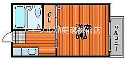 ル・クール東古松II[1階]の間取り