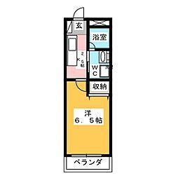 メゾンDICO 2階1Kの間取り