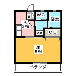 ラフォーレ新屋敷[1階]の間取り