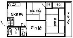 尾崎マンション[203号室]の間取り