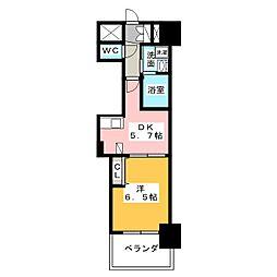 エステムプラザ名古屋駅前プライムタワー[7階]の間取り
