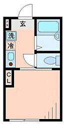 ミルフルール阪東橋[2階]の間取り