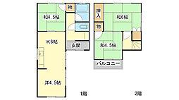 [一戸建] 兵庫県たつの市龍野町富永 の賃貸【/】の間取り
