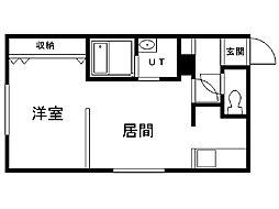 澄川レジデンス 3階1LDKの間取り