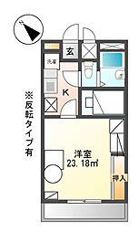 兵庫県赤穂市黒崎町の賃貸アパートの間取り