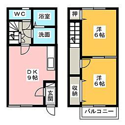 [テラスハウス] 愛知県あま市七宝町秋竹廻場 の賃貸【/】の間取り