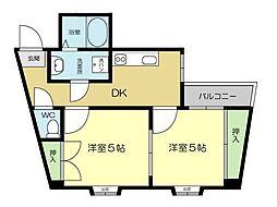 セルフィーユ今川[4階]の間取り