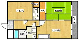富士雁屋西マンション[2階]の間取り