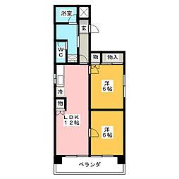 メゾン千代田[4階]の間取り