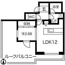 Mina八事石坂 5階1DKの間取り