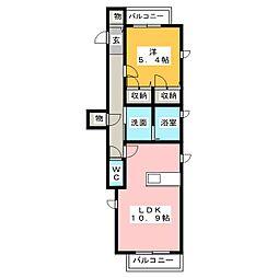 マークイズ椿[3階]の間取り