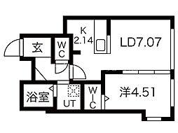 (仮称)サムティ月寒中央通5 4階1LDKの間取り