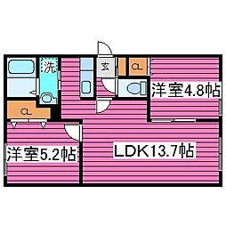 北海道札幌市東区北三十六条東19丁目の賃貸マンションの間取り