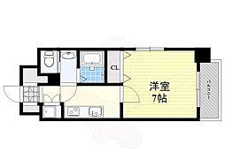 JR鹿児島本線 箱崎駅 徒歩3分の賃貸マンション 13階1Kの間取り