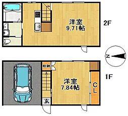 [タウンハウス] 福岡県久留米市合川町 の賃貸【/】の間取り