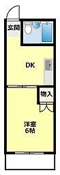 愛知県豊田市幸町隣松寺の賃貸アパートの間取り