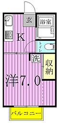 エコーハイツ[B201号室]の間取り