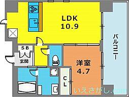 OTOWA神戸元町[11階]の間取り