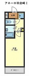 アネーロ羽倉崎[1階]の間取り