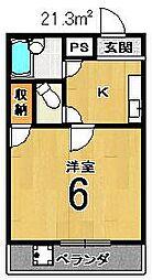 エスポワール西京極[206号室]の間取り