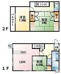[テラスハウス] 千葉県大網白里市南横川 の賃貸【/】の間取り