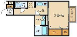 パークサイド渋川A棟[206号室]の間取り