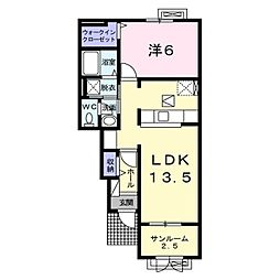 長野電鉄長野線 須坂駅 バス18分 南原東停下車 徒歩4分の賃貸アパート 1階1LDKの間取り