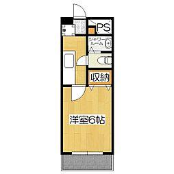さわらびマンション[503号室]の間取り