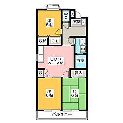 モンターニュI番館[2階]の間取り