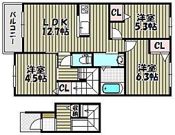 シャーメゾンサラ[2階]の間取り