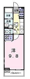 JR高徳線 栗林公園北口駅 徒歩11分の賃貸アパート 2階1Kの間取り