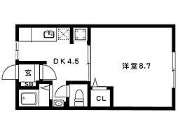岡本梅林住宅5号棟[204号室]の間取り