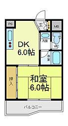 朝日プラザ天王寺[2階]の間取り
