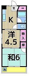秀栄マンション[301号室]の間取り