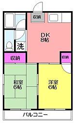 エクセル斉藤[2階]の間取り