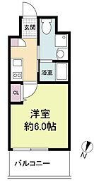 Live Casa 上新庄 8階1Kの間取り