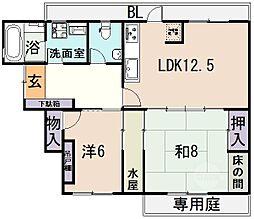 Asano Heights[1階]の間取り