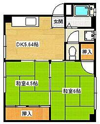虹ケ丘マンション[3-A号室]の間取り