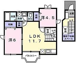 メリ−ハウス[0202号室]の間取り