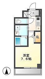 パルティール新栄[5階]の間取り