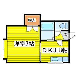 北海道札幌市東区北二十八条東12丁目の賃貸アパートの間取り
