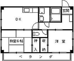 マンションカミジマ[304号室]の間取り