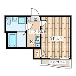 Casa Colina峰沢町[2階]の間取り